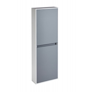 Aquanatural Tall Wall Unit with Solid Surface Panels - Slate Grey
