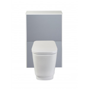 Aquanatural Solid Surface Back-To-Wall Toilet Unit - Slate Grey
