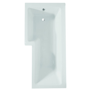 Blok L-Shaped Shower Bath - Left Hand