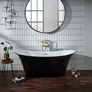 Bow Graphite Traditional Freestanding Bath with Optional Plinth