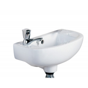 Compact Slim 450mm Cloakroom Basin - LH