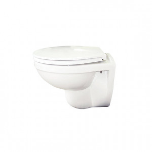 Compact Rimless Wall-Hung Toilet with Soft-Close Seat