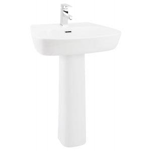 Cubix 600mm Full Pedestal Basin