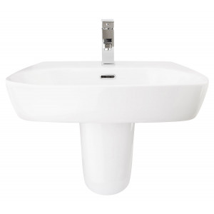 Cubix 600mm Semi-Pedestal Basin