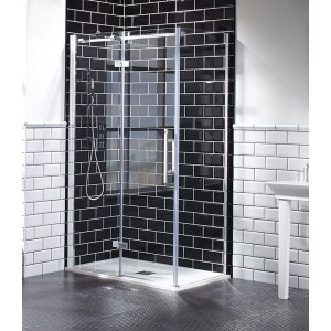 Aquaglass+ Elegance Hinged Door with Inline Panel - Left Hand