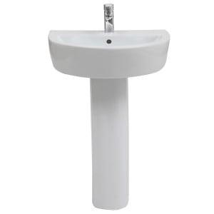 Emme 560mm Full Pedestal Basin