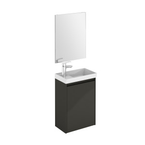 Enjoy 450mm Wall-Hung Cloakroom Vanity Unit & Mirror Set - Anthracite