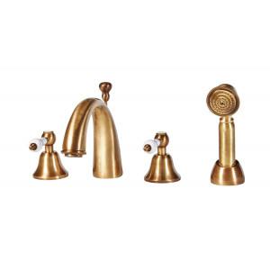 Etros Brass 4 Tap Hole Bath Shower Mixer