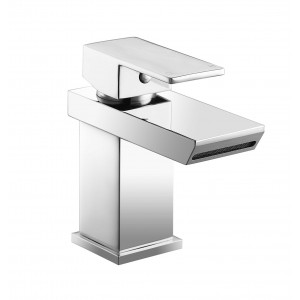 Sleek Waterfall Basin Mixer with Sprung Waste