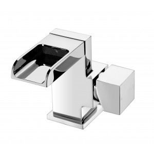 Trac Waterfall Basin Mixer with Sprung Waste
