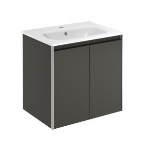 Valencia 600mm 2 Door Wall-Hung Vanity Unit - Anthracite