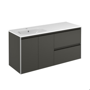 Valencia 1200mm Wall-Hung Vanity Unit with Basin Shelf - Anthracite