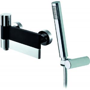 Line Black & Chrome Wall-Mounted Bath Shower Mixer