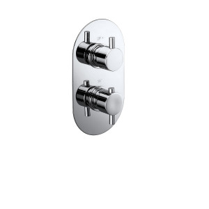 Evoke Twin Concealed Thermostatic Shower Valve