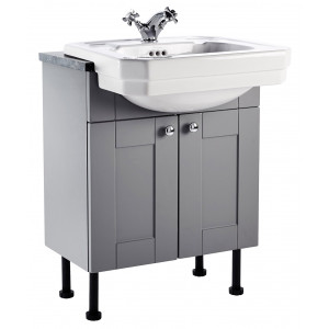 Aquamode 600mm Fitted Semi-Recessed Vanity Unit - Dust Grey