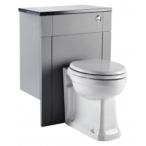 Aquamode Fitted Back-To-Wall Toilet Unit - Dust Grey