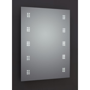 Alpha LED Mirror with Sensor, Demister & Shaving Socket