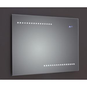 Quay Bevel-Edged LED Mirror with Clock, Sensor & Demister