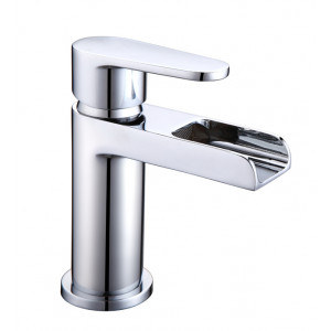 Ballini Waterfall Basin Mixer with Sprung Waste