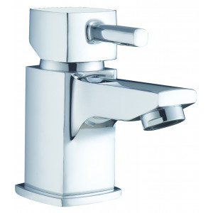 Cubix² Mini Basin Mixer with Sprung Waste