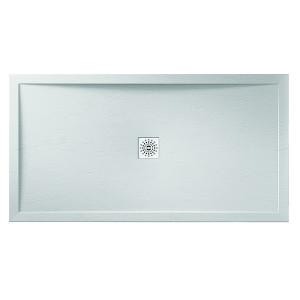 Designer Stone White Slate Shower Tray - White Waste