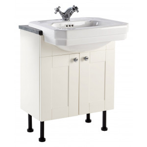Aquamode 600mm Fitted Semi-Recessed Vanity Unit - Crema