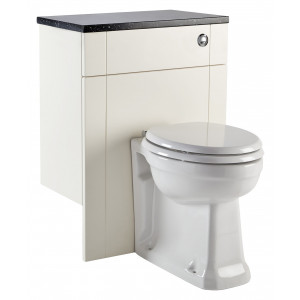 Aquamode Fitted Back-To-Wall Toilet Unit - Crema