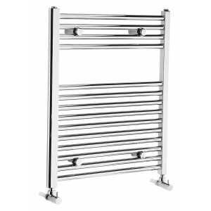 Flat 700mm Heated Towel Rail - Chrome