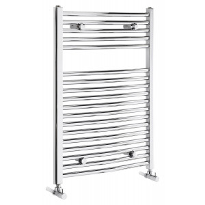 Curved 825mm Heated Towel Rail