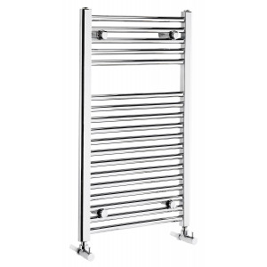 Flat 825mm Heated Towel Rail - Chrome