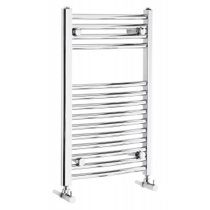 Curved 700mm Heated Towel Rail