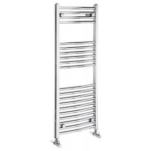 Curved 1100mm Heated Towel Rail