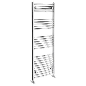 Curved 1350mm Heated Towel Rail
