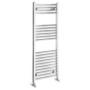 Flat 1100mm Heated Towel Rail - Chrome