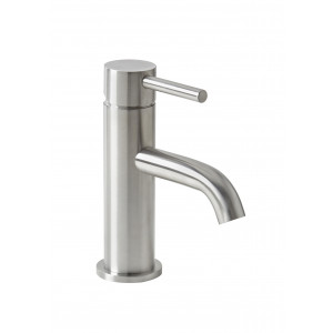 Solito Brushed Steel Basin Mixer with Sprung Waste