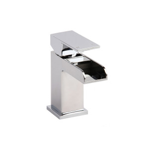 Stream Waterfall Basin Mixer with Sprung Waste