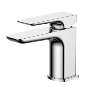 Sabre Chrome Basin Mixer with Sprung Waste