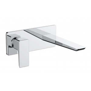 Sabre Wall-Mounted Single Lever Basin Mixer