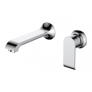 Basque Wall-Mounted Single Lever Basin Mixer