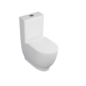 Harmony Flush-to-Wall Toilet with Soft-Close Seat