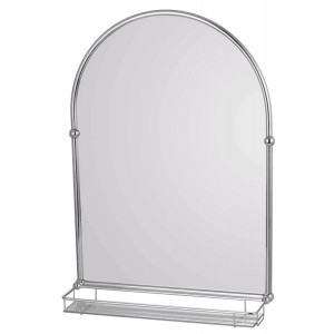 Holborn Traditional Arched Bathroom Mirror with Shelf