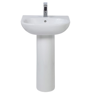 Luna 550mm Full Pedestal Basin