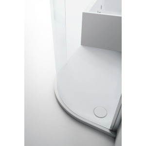 Aquaglass+ Lux Dedicated Shower Tray - Right Hand