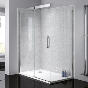 Prestige² 8mm Side Panel - Silver/Clear Glass
