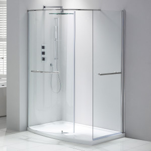 Aquaglass+ Purity 6mm Closing Walk-In Enclosure - Left Hand
