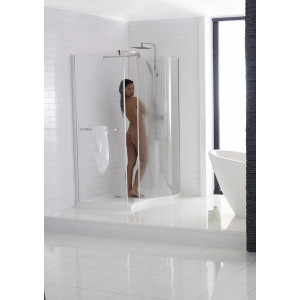 Aquaglass Purity Curved Walk-In Enclosure - Right Hand