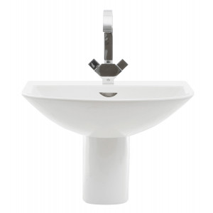 Reserva 550mm Semi-Pedestal Basin - 1 Tap Hole