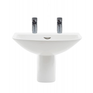 Reserva 550mm Semi-Pedestal Basin - 2 Tap Holes