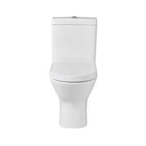 Resort Mini Close Coupled Toilet with Soft-Close Seat