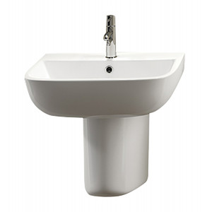 Series 600 Semi-Pedestal Basin - 1 Tap Hole